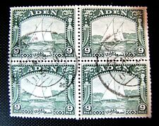 2 ADEN BLOCK OF FOUR STAMPS CTO (DESCRIPTION)