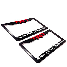 2 TRD Toyota Racing Development License Plate Frames, 3-D Raised Letter Frames