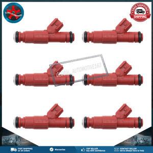 6x 12 Hole 24LB Fuel Injectors For 99-04 Jeep Wrangler Dodge 4.0L EV6 0280156161