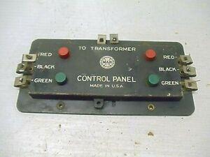 Old Vintage Marx Control Panel to Transformer