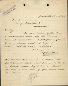 1893 Moscow Idaho (ID) Letter Juliaetta Drug Co. F.J. Bratton