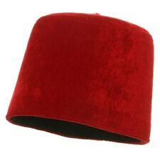 Adult Red Velvet Fez Tarboosh Chechnya Army Military Tassel Hat Cap MEDIUM