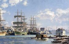 "John Stobart Print - Victoria: The ""Thermopylae"" Alongside Main Wharf in 1891"