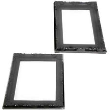 Set of 5 Black Mirrors Home Hanging Bathroom Decor Wall Living Room Makeup