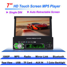 Touch Screen 1080 Bluetooth Single 1 Din Car Stereo In Dash USB MP5 Radio Player