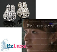 Korean drama Brilliant Legacy cubic CZ Rabbit bunny Earrings Shining Inheritance