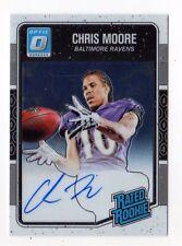 Chris Moore NFL 2016 DONRUSS optique Rated ROOKIES autographes (RAVENS) #/150