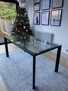 John Lewis Tropez 6 Seater Glass Top Dining Table Brand New RRP £270