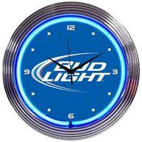 Bud Light Neon Clock Bowtie Budweiser Anheuser-Busch classic retro logo lamp
