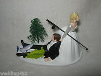 Wedding Reception Engagement Party ~Fishing Bass Trout~ Pole Cake Topper