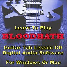 BLOODBATH Guitar Tab Lesson CD Software - 31 Songs