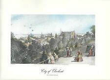 VINTAGE  PRINT OF EARLY PICTURESQUE AMERICA - 1874 - CITY OF CLEVELAND