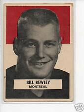 1959 Wheaties Canadian Football Card #2 Bill Bewley-Montreal Alouettes