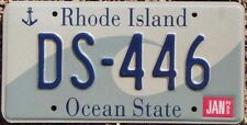 RHODE ISLAND Wave License Plate - Random Letters & Numbers -  RI Ocean State