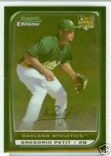 Gregorio Petit Houston Astros 08 Bowman Chrome Draft R/C