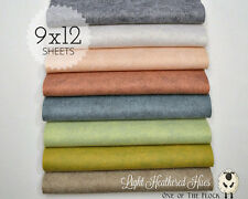 "Lt. HEATHERED HUES Felt Collection Merino Wool Blend Felt, EIGHT 9"" X 12"" Sheets"