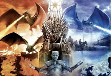 Buffalo Games - GAME OF THRONES: FIRE AND ICE - 2000 piece puzzle - USED ONCE