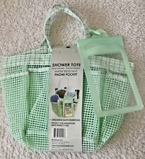 G.U.S. ShowerTote in Green featuring detachable water resistant Phone Pocket NEW