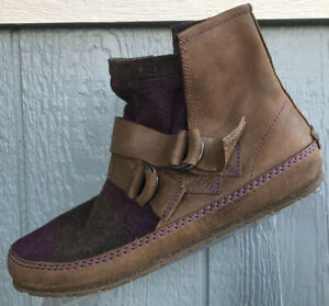 Sorel Yaquina Blanket Ankle Boots Womens Size 9 Brown Purple Gray