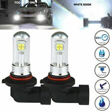 2x 9006 HB4 CREE LED Super White 6000K Fog DRL Driving Car Head Light Lamp Bulbs