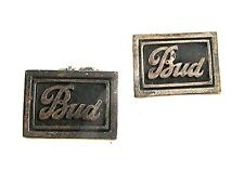 1940's-50's Sterling Silver BUD Cufflinks Patent No. 2472958 111616