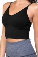TOP LEGGING Women Padded Workout Sports Bra -, New_black, Size Large to Xlarge 3