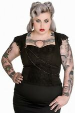 Gothic Waist Length Plus Size Tops & Shirts for Women