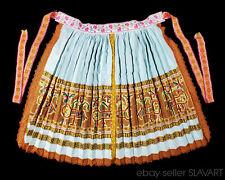 Rare incredible Slovak embroidery folk costume apron from Trencianska Tepla kroj