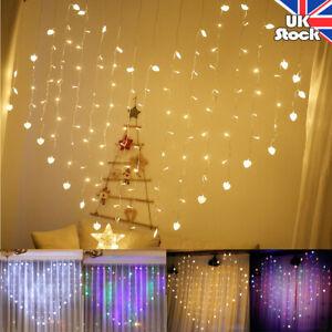 LED Heart Shape Fairy String Curtain Window Lights Twinkle Valentine's Day Decor