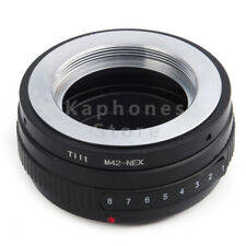 UK Tilt Lens Adapter Suit For M42 Lens to Sony E Mount NEX A7s A7R A7II  A3000