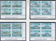 British Virgin Isles 1986 MNH VISITING CRUISE SHIPS CORNER BLOCK SET