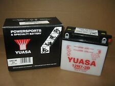 Yuasa Conventional 12-Volt Battery - 12N7-3B KAWASAKI W1 YAMAHA SNOSCOOT YL  NOS