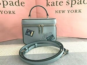 Kate Spade Trunk Crossbody off the Grid Bon Voyage Collection Fresh Water/Blue