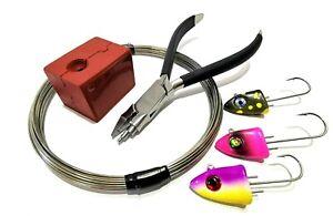DIY Jig Head Kit:  22 g jig head mold + 10 m stainless steel wire + pliers