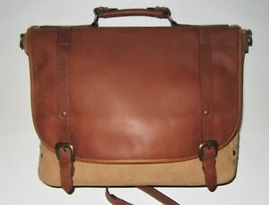 NWOT Men's Leather Western Roughout Business Briefcase Messenger Laptop Tote Bag