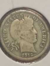 1912-S Barber Dime Vg Condition - bn