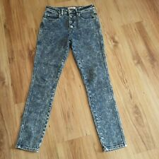 GUESS ACID WASH HIGH WAISTED SKINNY JEANS 27 UK 10