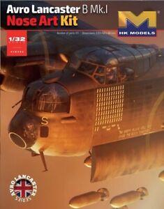 Hong Kong Models 1/32 HK01E33 Lancaster Nose Art - BNIB - FREE UK POST