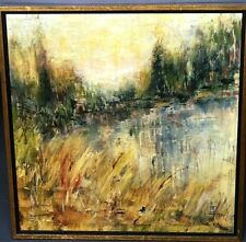 """Impressionist Oil Painting """"Tomorrow"""" signed Mary Lou Wilson 1971"""