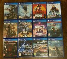 Lot 12 jeux PS4 Red Dead / God Of War / Star Wars / Monster Hunter...