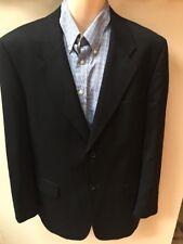 Men's Pierre Cardin Wool Black Blazer Jacket Sz 44