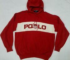 Vtg 90s Polo Sport Ralph Lauren Kswiss Hoodie USA Jacket Shirt Sweatshirt P Wing