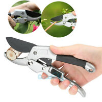 Ratchet Pruning Shears Sharp 8-inch Garden Hand Pruners Easy Ratcheting Action