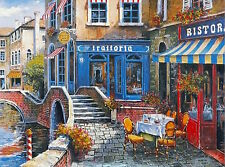 """""""Outdoor Cafe"""" Limited Edition Lithograph by Anatoly Metlan COA Untitled"""