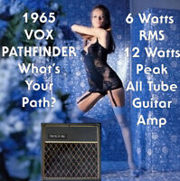 1965 Vox Pathfinder 6 Watt Tube Guitar Amplifier Made in the USA