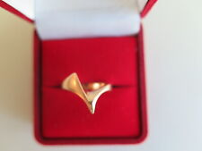 14K YELLOW GOLD  MODERNIST RING SIZE 6 (#363)