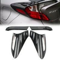 Carbon Fiber Look Rear Back Lamp Taillight Cover Trim For Toyota C-HR 2016-2018