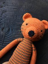 Used handmade amigurumi tiger toy for baby boy, crochet toy.