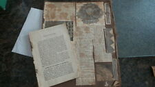 Circa 1890FLORENCE HOME NEEDLEWOORK BOOKLET & EARLY PATTERN SCRAPBOOK