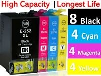 20x Generic 252XL Ink Cartridge for Epson Workforce WF3620 3640 7720 WF7710 7610
